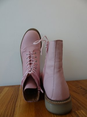 Apple of eden Lace-up Boots light pink