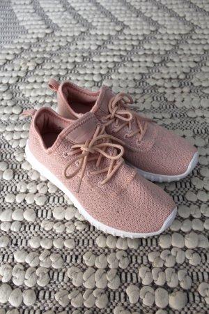 Rosa Stoff Sneaker
