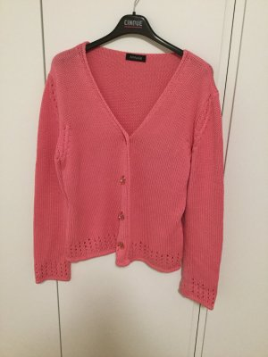Rosa Strickjacke aus Baumwolle natürlich schön