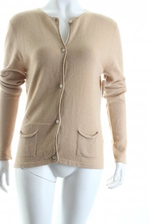 Rosa Strickjacke beige Casual-Look