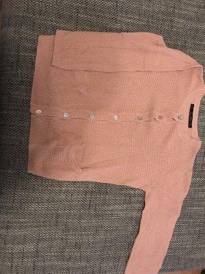 Zara Knit Giacca in maglia rosa