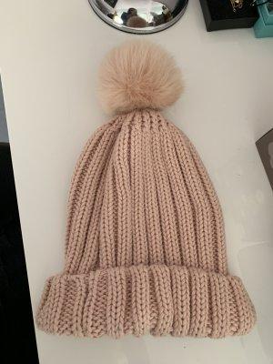 Mexx Sombrero de punto rosa