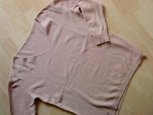 V-Neck Sweater dusky pink-light pink mixture fibre