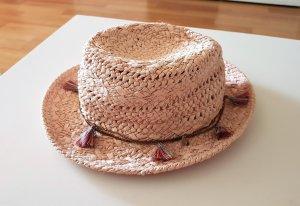 Hallhuber Cappello di paglia multicolore