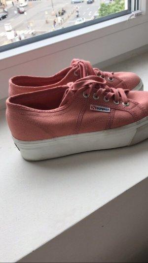 Rosa superga plateau Schuhe