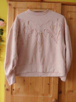 Rosa Sweater mit Rüschen XS