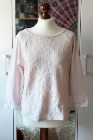 Rosa Sweatshirt mit Rosenmuster H&M 36 38 S oversized