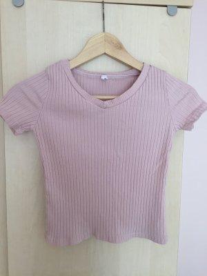 V-hals shirt roségoud Katoen