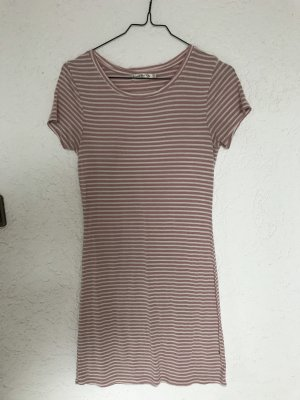 Robe chemise blanc cassé-rose clair