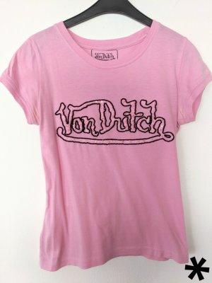 Rosa T-Shirt mit Pailletten von Von Dutch