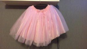 Falda de tul rosa claro
