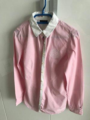 Rosa Tommy Hilfiger Bluse mit weißem Kragen