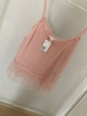 H&M Frill Top pink-light pink