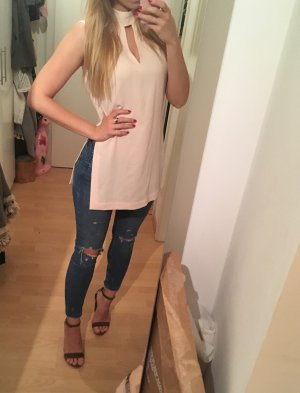 Rosa Top mit Cut Outs 36 neu