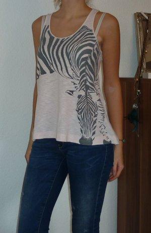 Rosa Top mit Zebra-Print