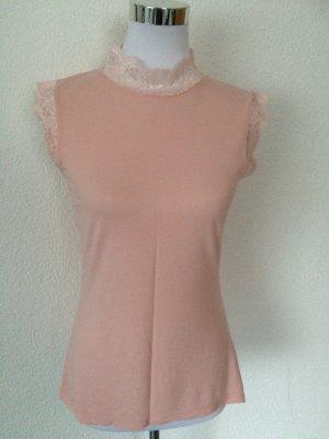 rosa Top / Shirt mit Spitze von Orsay, neu -  Gr. S