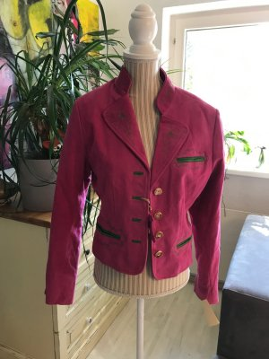 Country Line Traditional Jacket neon pink-green leather
