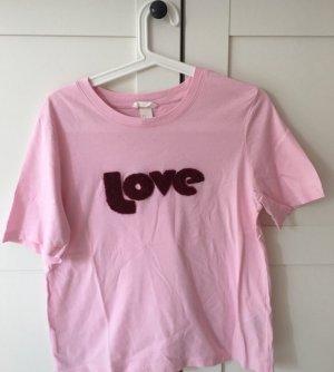 H&M T-shirt rosé-karmijn