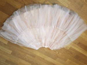Jupe taille haute or rose