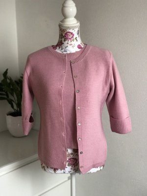 Olsen Sweater Twin Set pink merino wool