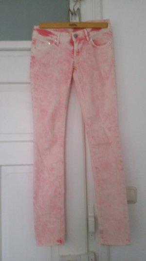 rosa verwaschene Skinny Jeans H&M