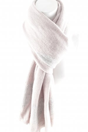 Rosa von Schmaus Cashmere Scarf mauve-silver-colored Herzmuster glittery