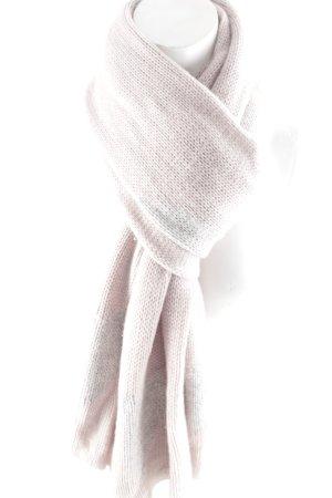 Rosa von Schmaus Kaschmirschal blasslila-silberfarben Herzmuster Glitzer-Optik