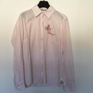 Rosa-weiß gestreifete Bluse von Donnel