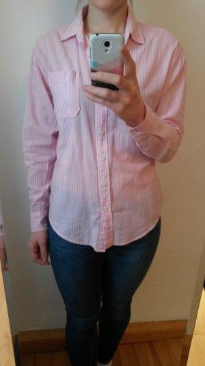 Rosa/Weiß-gestreiftes Hemd #AmericanEagle