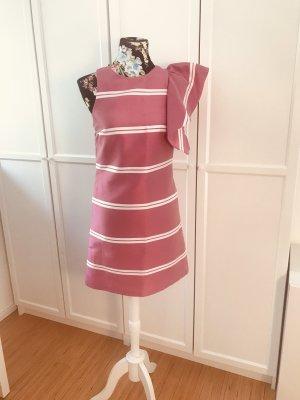 Rosa weiß gestreiftes Kleid