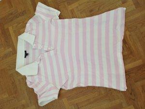 Rosa weiß gestreiftes Poloshirt von Gant, Größe xs