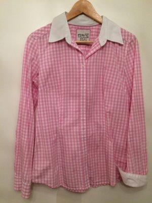 rosa/weiss kartierte Bluse - NEUWERTIG