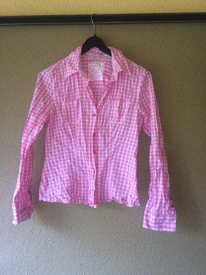 Street One Geruite blouse wit-roze