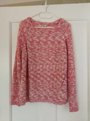 rosa-weißer Strickpullover
