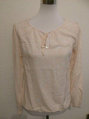 rosa weißes Blusenshirt / Bluse von S.Oliver - Gr. 36
