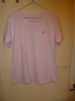 Rosa-weißes Streifenshirt