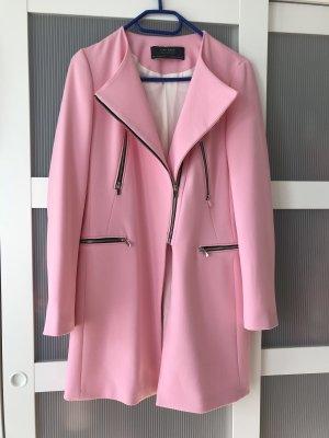 Rosa Zara Basic Mantel S 36/38 Jacke pink Blogger Kleid