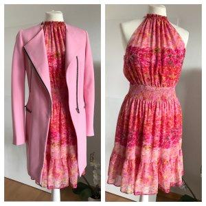 Rosa Zara Basic Sommerkleid M 36/38 Blumen geblümt Volants