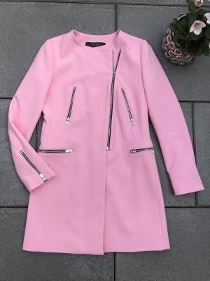 Rosa Zara Basic Sommermantel S 36 Jacke Frühling pink