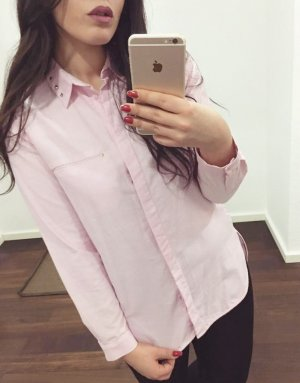 Zara Long Sleeve Blouse gold-colored-light pink