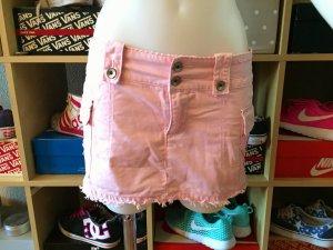 Rosa ZARA Mini Jeans Rock S