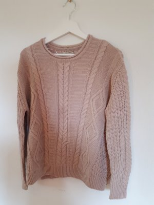 Pull & Bear Cable Sweater dusky pink