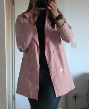 Rosafarbender Trenchcoat langer Blazer