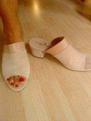 Blue Motion Heel Pantolettes dusky pink-pink suede