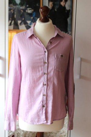 Rosafarbene Bluse mit Ellenbogenpatches H&M 38 S