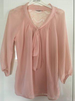 rosafarbene Bluse mit schönem Rücken