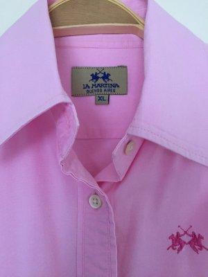 Rosafarbene Bluse von La Martina in Größe XL