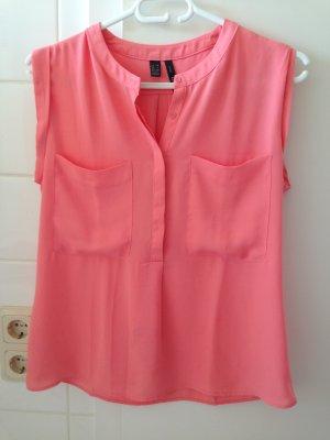 Rosafarbene Bluse von Mango