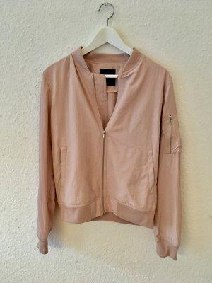 Rosafarbene Bomberjacke von Zara, Größe M