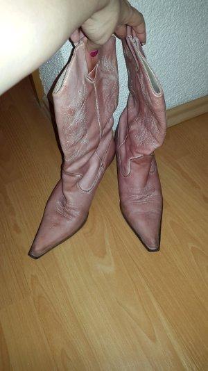 rosafarbene Cowboystiefel von J.Holliday Größe 40